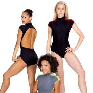 Natalie Dancewear Other - Adult Dance Leotard Cap Sleeve Open Back